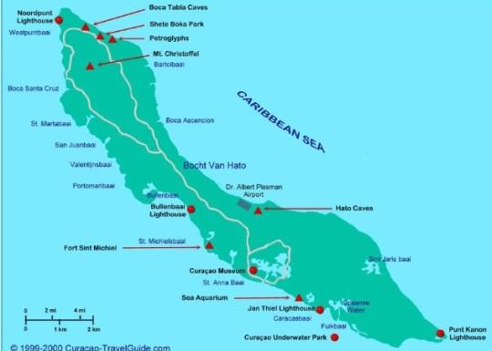 curacao kaart